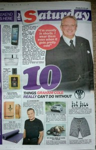Graham Cole in The Sun 10 Things 0 14 June 2014 (2)
